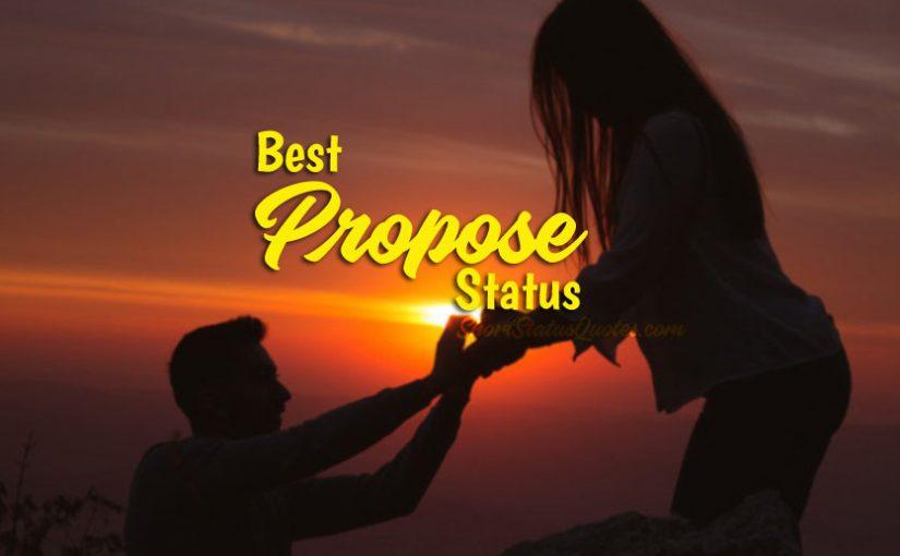 Propose Status for Whatsapp Facebook - Cute Romantic Quotes