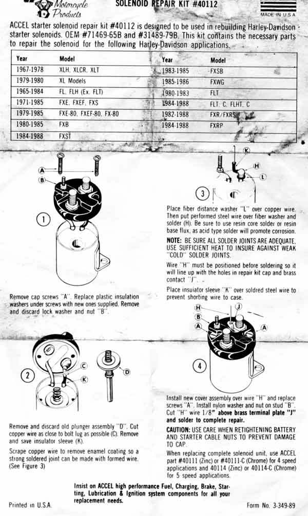 Shovelhead Starter Relay Wiring Diagram Wiring Schematic Diagram