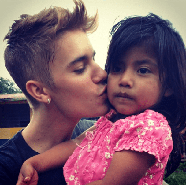 One of the children that Justin met in Guatemala. Via @justinbieber Instragram