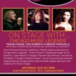 ON STAGE WITH…Chicago Music Legends : Judy Roberts and Greg Fishman, Frank D'Rone & Denise Tomasello