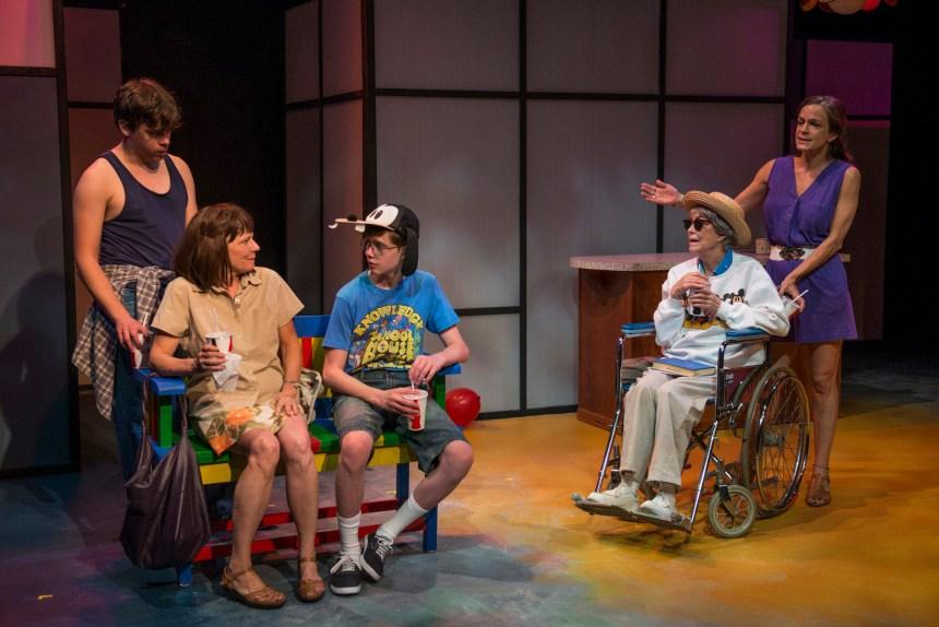 (left to right) Nate Santana, Linda Reiter, Kyle Klein II, Deanna Dunagan and Rebecca Jordan. Photo by Michael Brosilow.