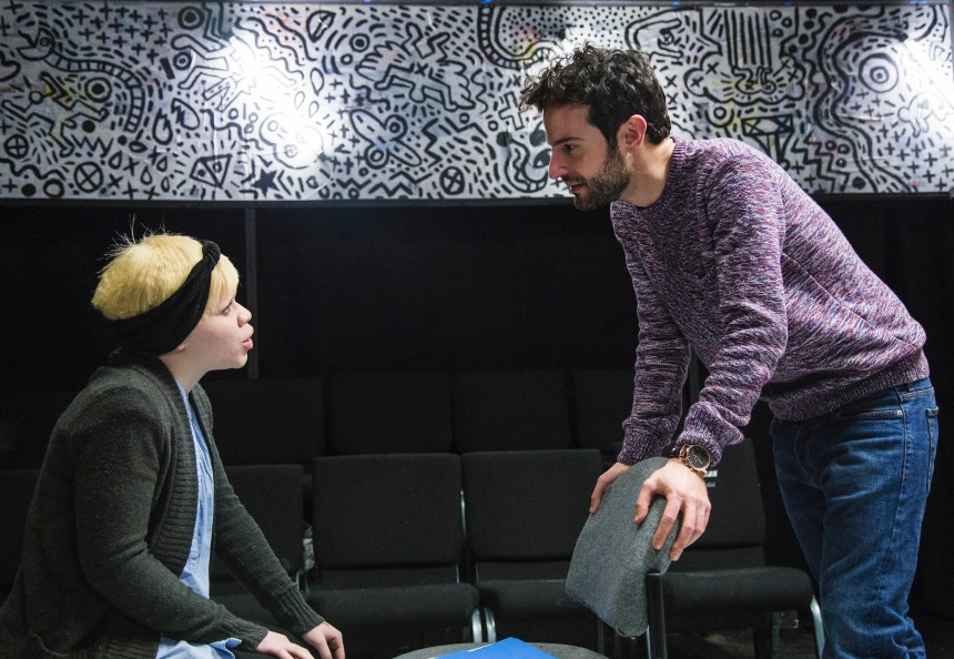 Ashley Hicks and Nik Kourtis in First Floor Theater's Animals Commit Suicide, written by J. Julian Christopher, and directed by Hutch Pimentel.