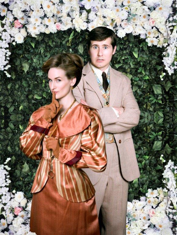 Sean Magill and Maeghan Looney play John Worthing and Gwendolyn Fairfax in the Dead Writers Theatre Collective production of The Importance of Being Earnest, opening July 1 at the Athenaeum Theatre, 2936 N. Southport.
