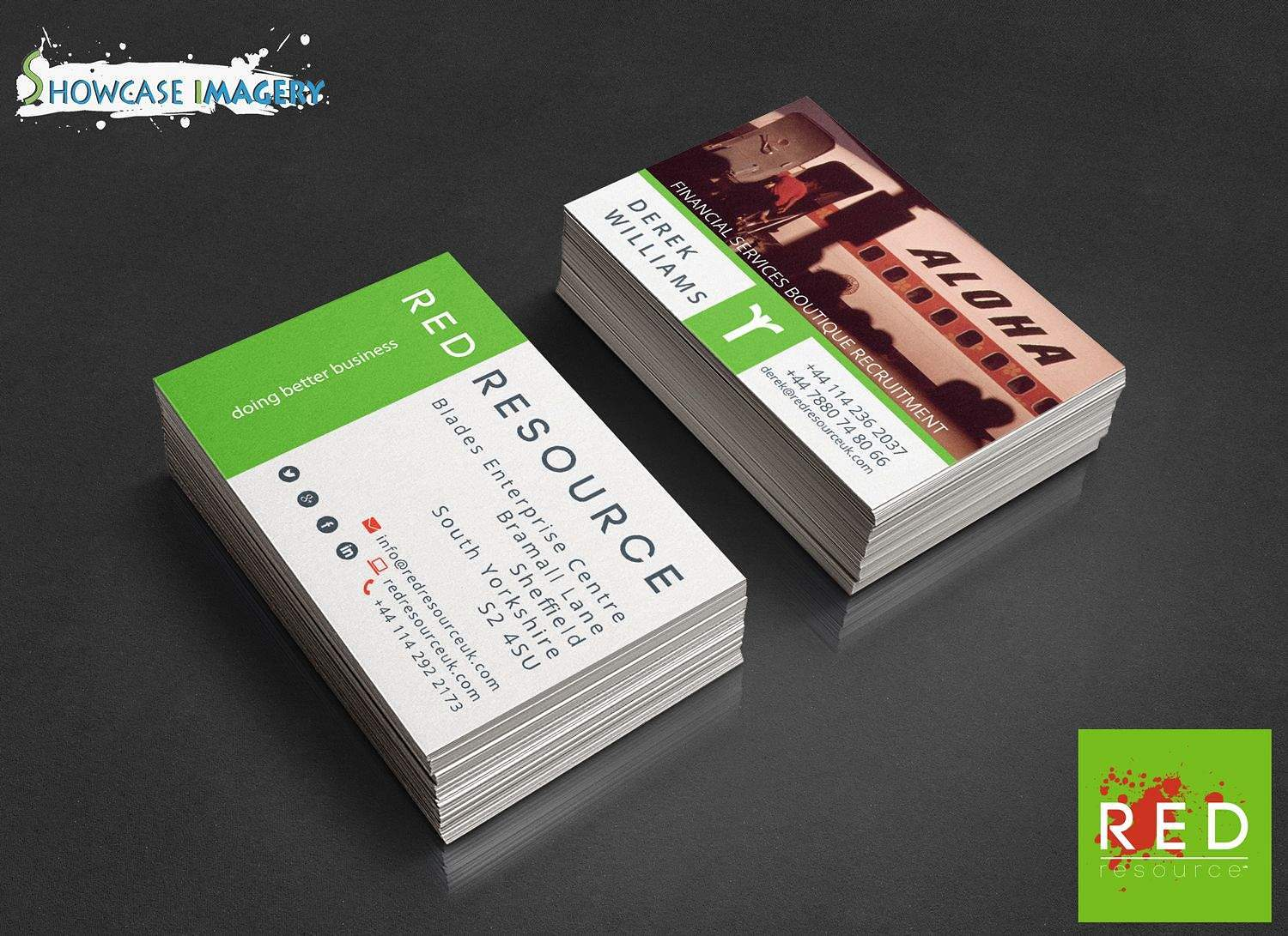 Red resource uk business card design 2015 showcase imagery colourmoves