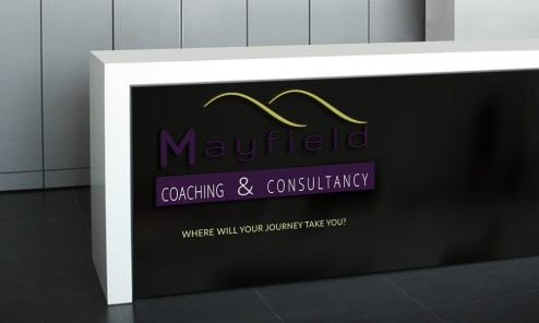 Mayfield Coaching and Consultancy front of office display
