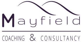 purple Mayfield Coaching and Consultancy lockup