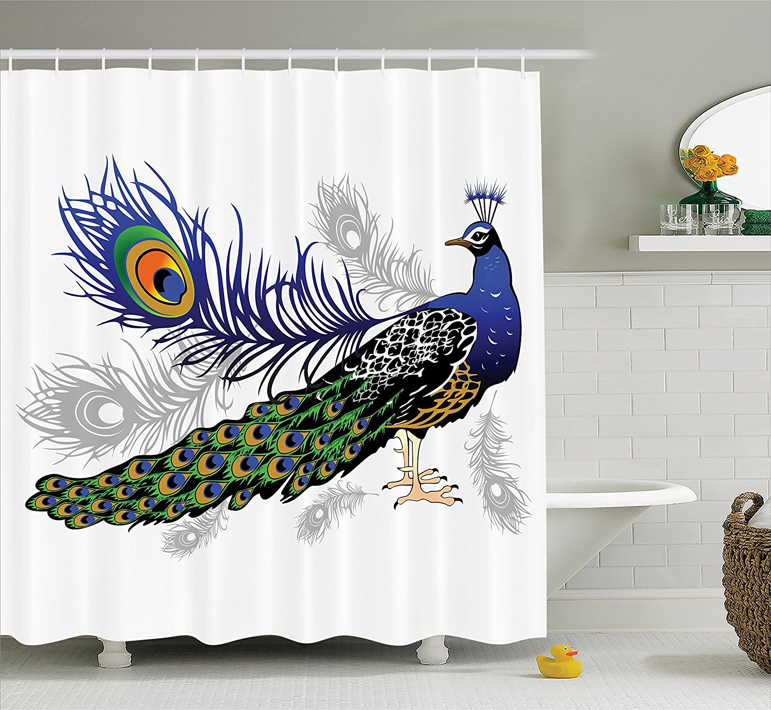 Peacock Paper Towel Holder Peacock Bathroom Decor Ideas