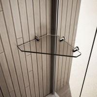 Clear Glass Corner Storage Accessory Shelf Shelves for ...