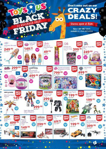 Baby Cots Game Toys R Us Black Friday Specials 23 November 2018 News