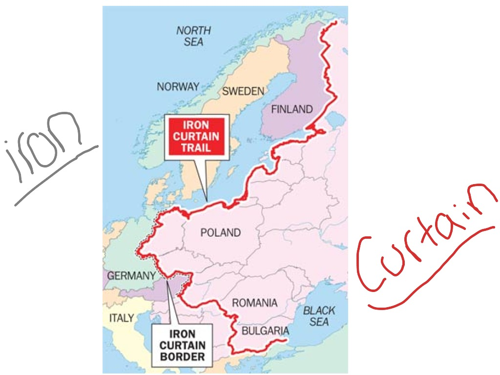 Iron Curtain Map Iron Curtain History Europe World History Cold War Showme