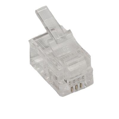 RJ22 4 Position 4 Conductor Modular Plug (Handset Cord