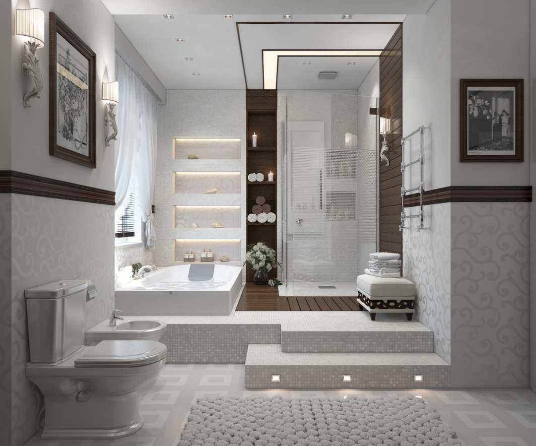 Modern Restroom Designs Modern Bathrooms With Spa Like Appeal Showme Design