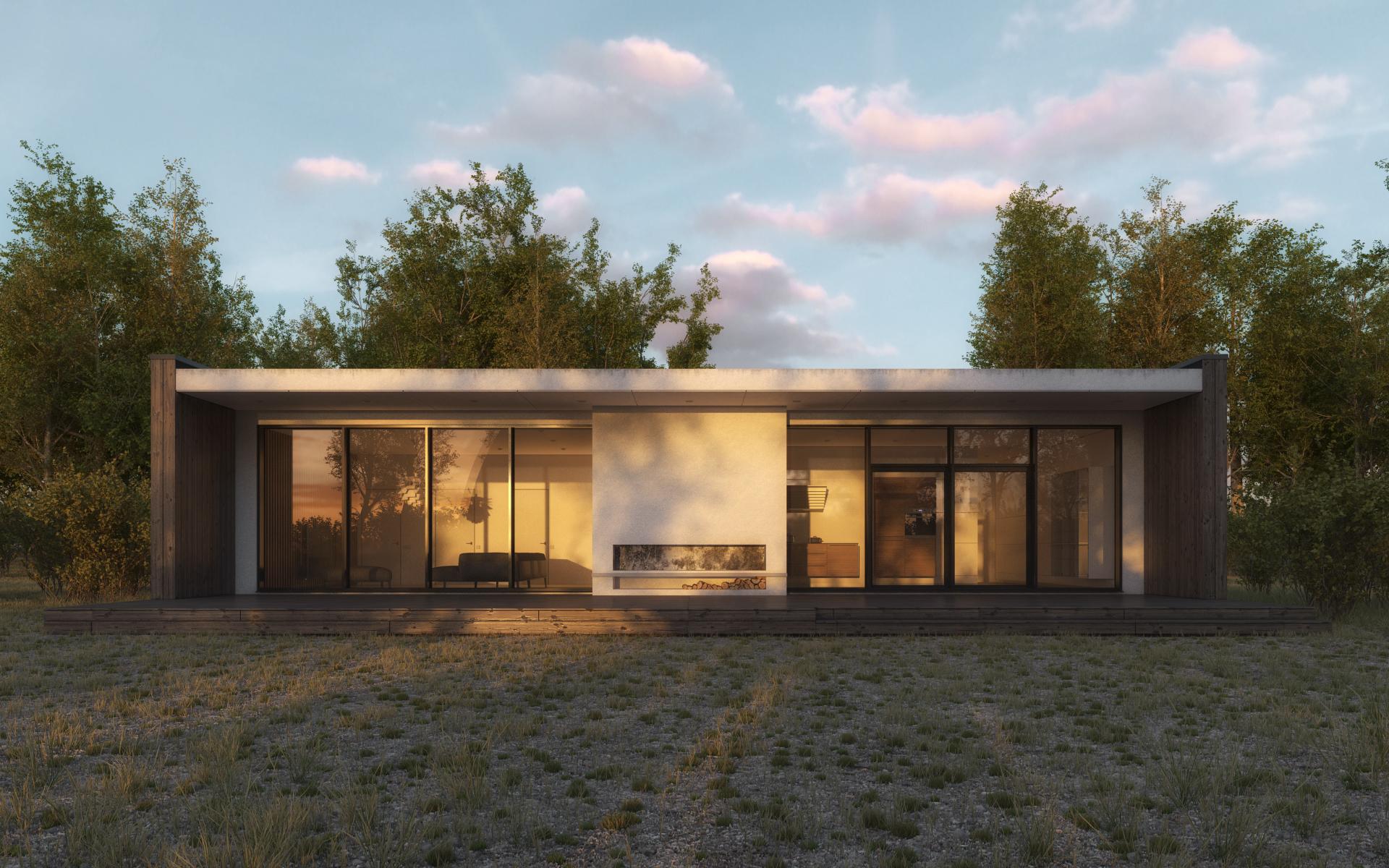3d Brick Wallpaper Philippines Scandinavian Summer House By 3dstudija Showme Design