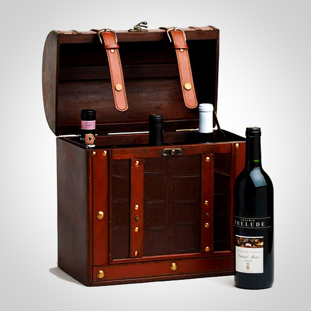 Chateau 6 Bottle Antique Wine Box Show Off The Store