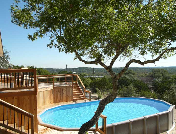 40 uniquely awesome above ground pools with decks diy