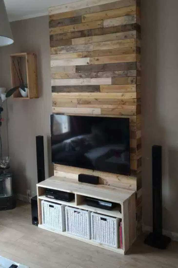 Wood Wall Behind Tv 50 Creative Diy Tv Stand Ideas For Your Room Interior Diy
