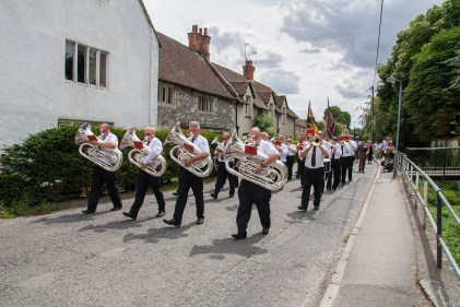 Shrewton parade and drumhead service - photo provided by Mr Ken Barnett