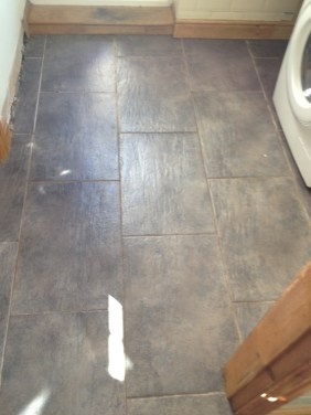 Ceramic Tiled Floor Before Cleaning in Mould