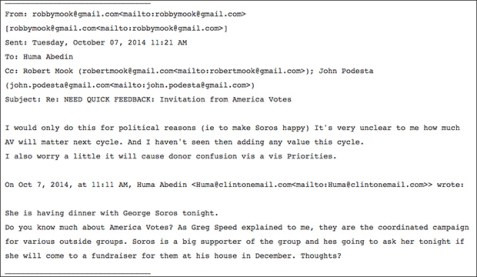 conspiracy fact theory leaked emails prove that shadow rules hillary aims make soros happy
