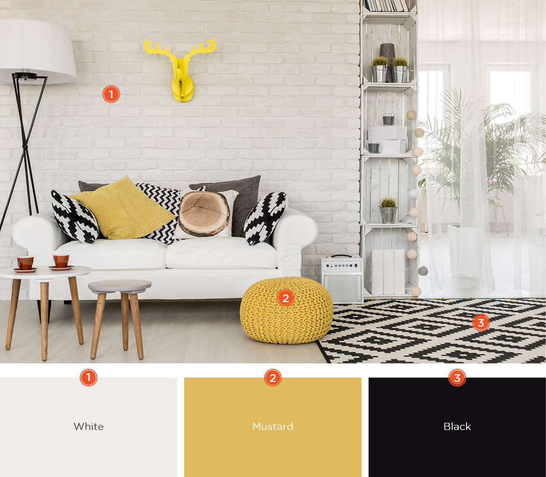 Mustard Color Paint For Kitchen 20 Inviting Living Room Color Schemes Ideas And Inspiration For