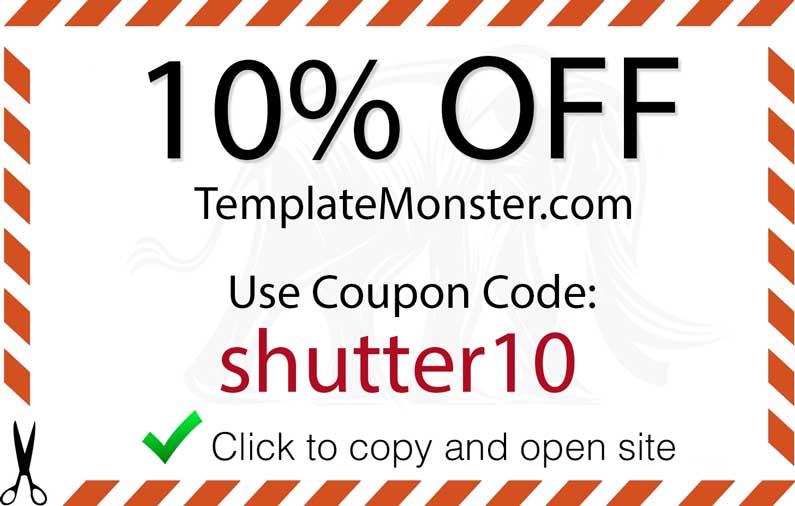 Template Monster Promo Code - Shutter Muse - monster template
