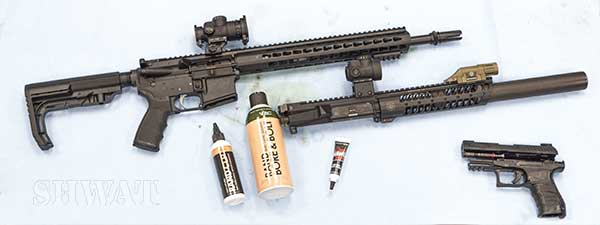 Rand gun cleaning products