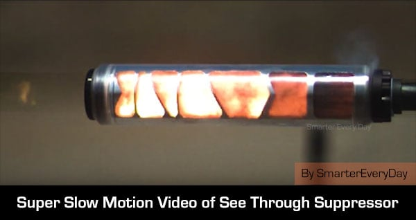 See Through Suppressor Slow motion video