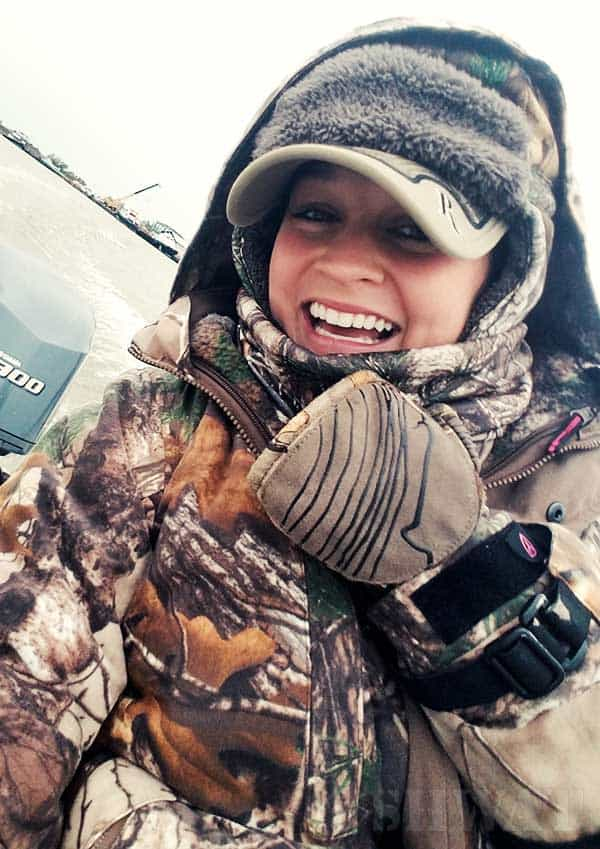 duck hunting in the cold