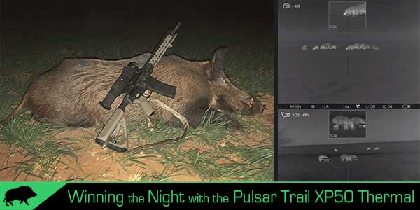 Pulsar Trail XP50 hog hunting review