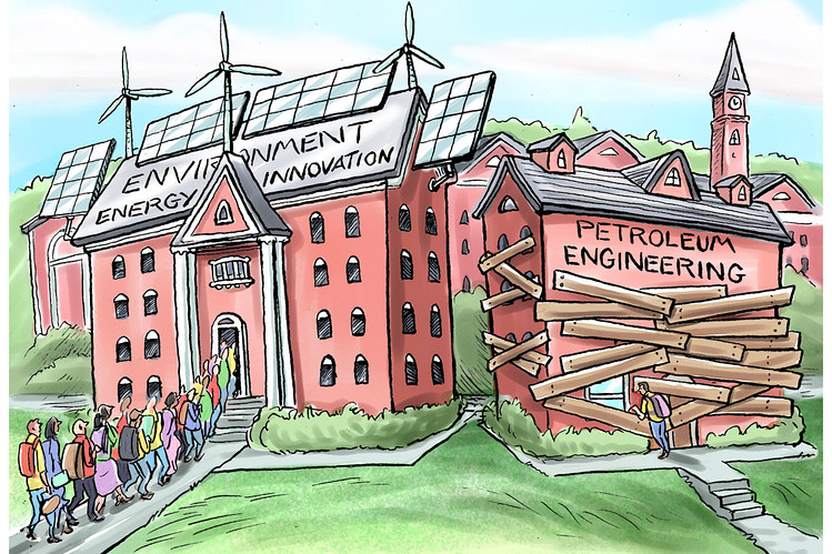 How Climate Change Conquered the American Campus - WSJ