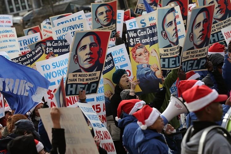 Low-Wage Workers Stage Strikes and Protests Over Pay - WSJ