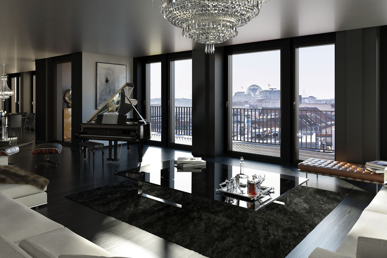 Berlin Penthouse Europe House Of The Day Glamorous Berlin Penthouse Photos Wsj