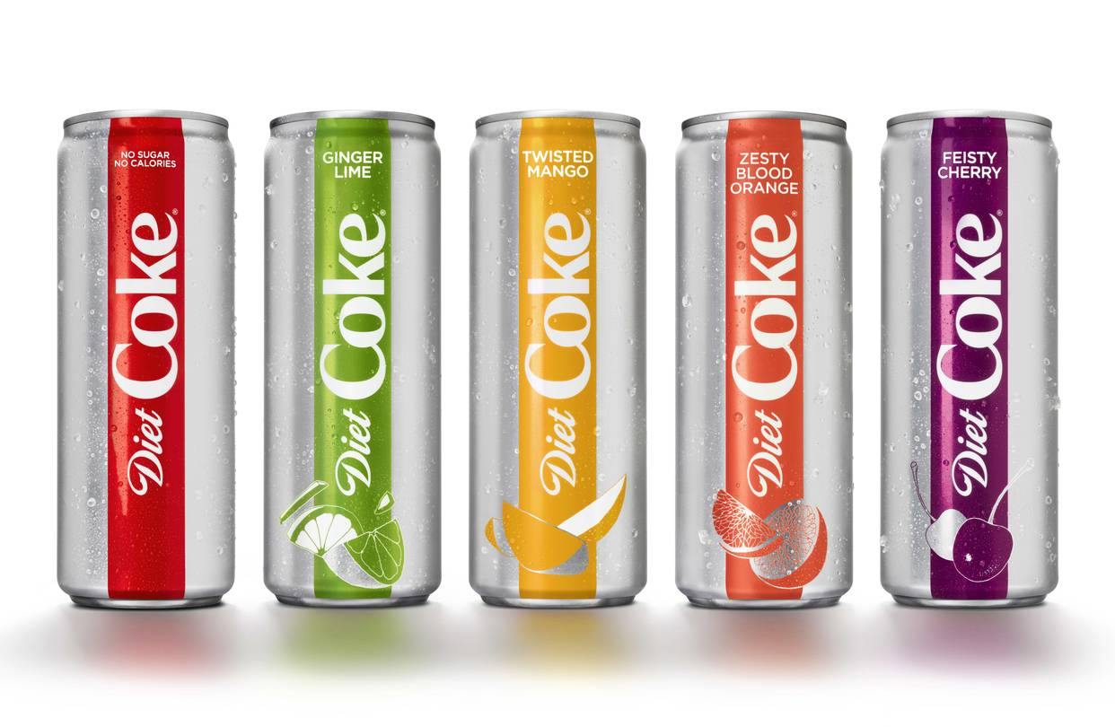 Diet Coke Can New Flavors Reverse Diet Coke S Slump Wsj