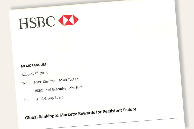 HSBC rebels contacted 60 bankers for scathing memoundefined