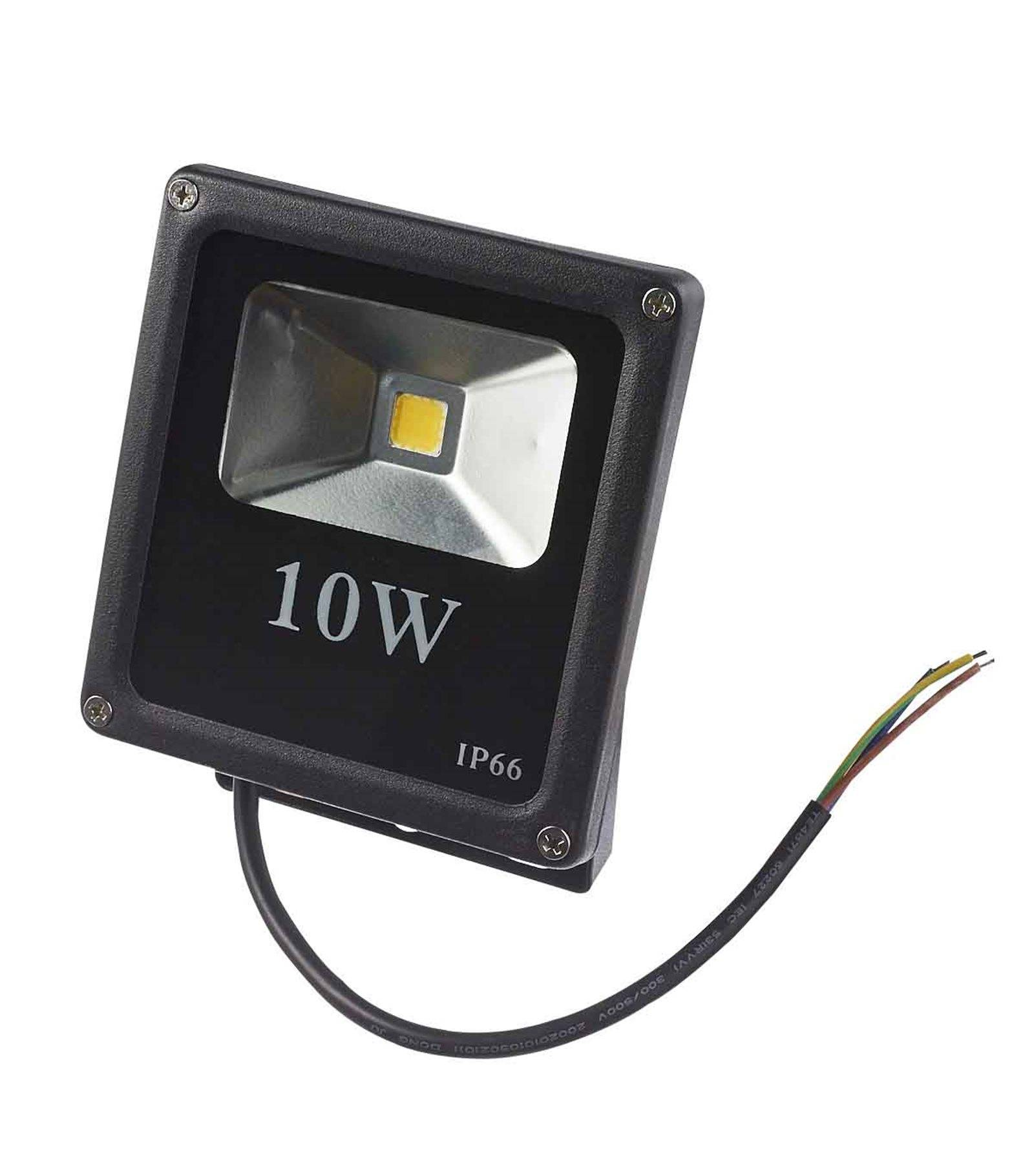 Spot A Led Exterieur Projecteur Led Ultra Slim 10w Led Integrés Ip65 Blanc Chaud Extérieur Hipow