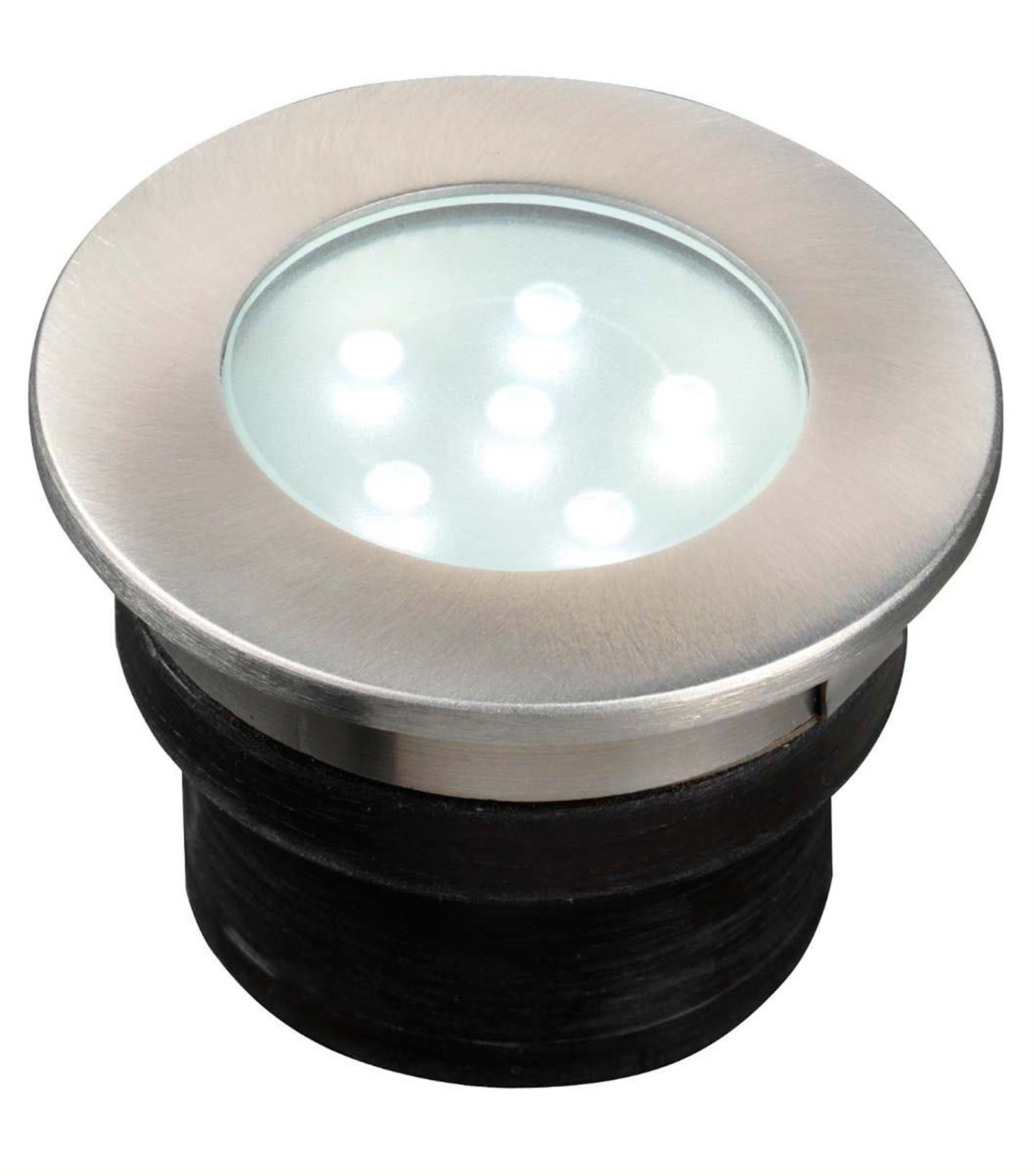 Eclairage Exterieur Led 12 Volts Spot Encastrable Brevus 1w Platine Led Ip68 Blanc Très Froid