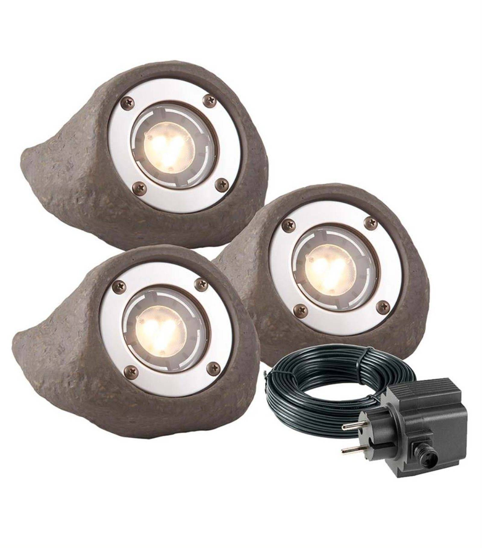 Projecteur Led Exterieur Blanc Chaud Spot Projecteur Lapis Set 3w Gu5 3 Mr16 Ip68 Blanc Chaud