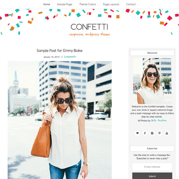 Etsy blog design Confetti