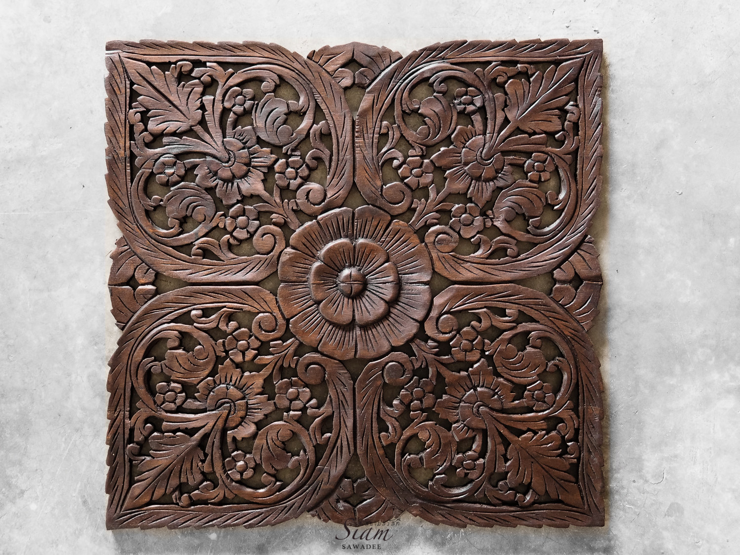 Wood Decorative Wall Art Buy Thai Oriental Lotus Carved Wood Wall Art Decor Online