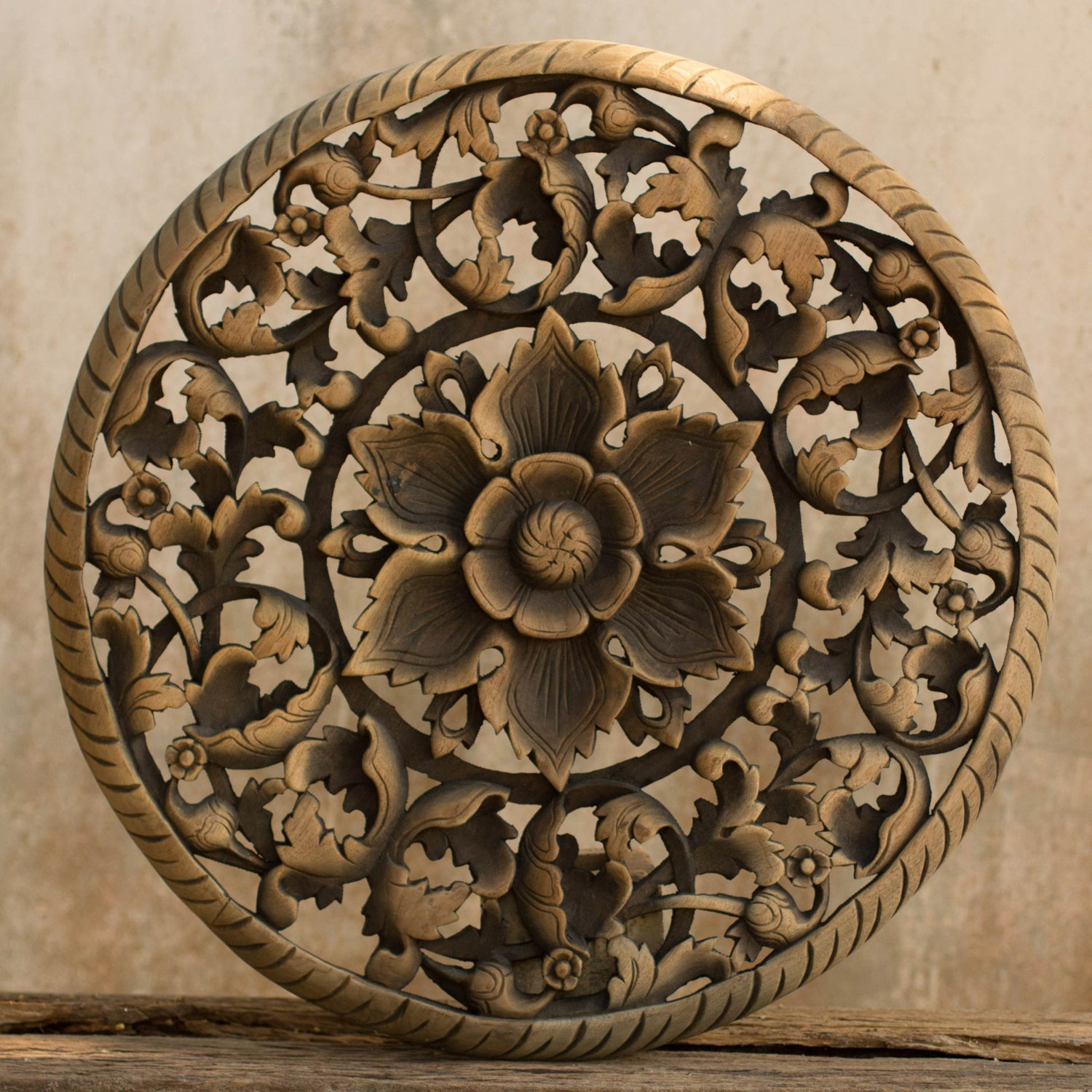Carved Wood Wall Hanging Buy Tree Dimensional Floral Wooden Wall Hanging Online