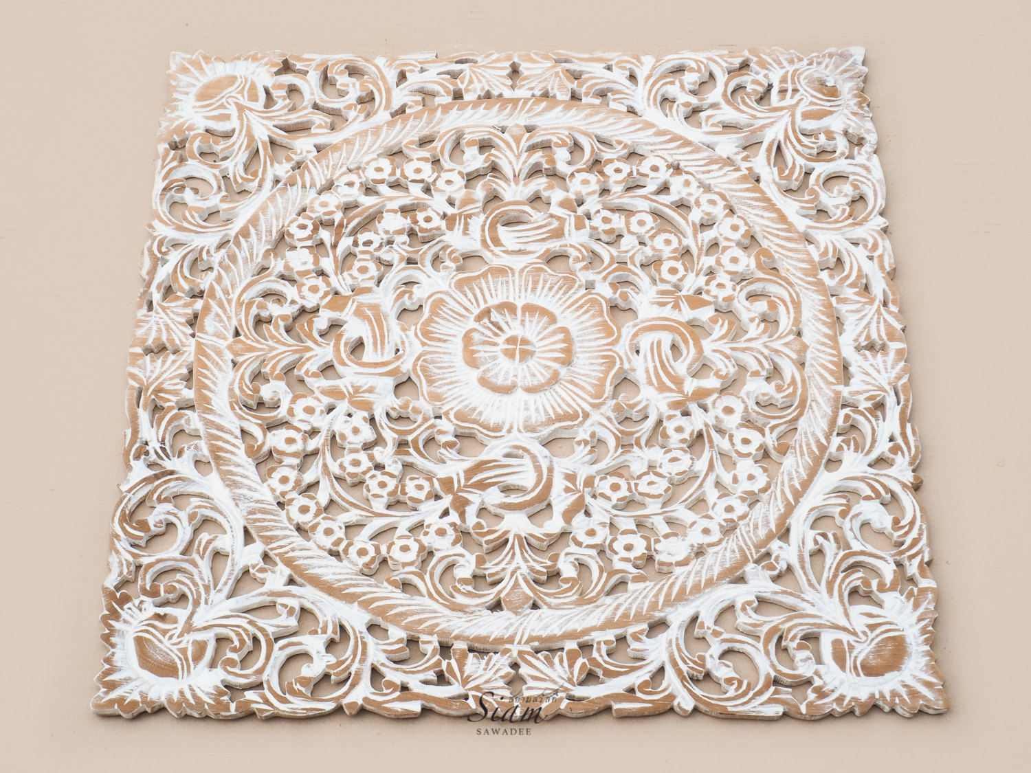 Carved Wood Wall Art Australia Buy Lotus Wood Carving Plaque Oriental Decor Online