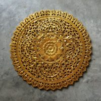 Buy Mandala Wood Carving Wall Panel Decor, Mandala Wall