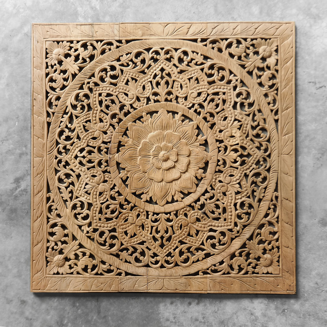 Carved Wood Wall Hanging Buy Antique Lotus Wood Carving Wall Art Hanging Online