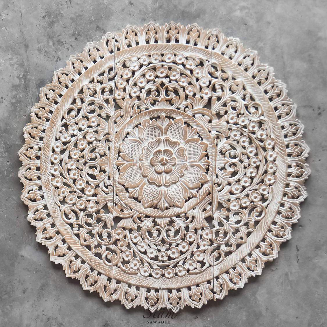 White Wash Kopen Buy Mandala Wood Carving Wall Panel Decor Mandala Wall
