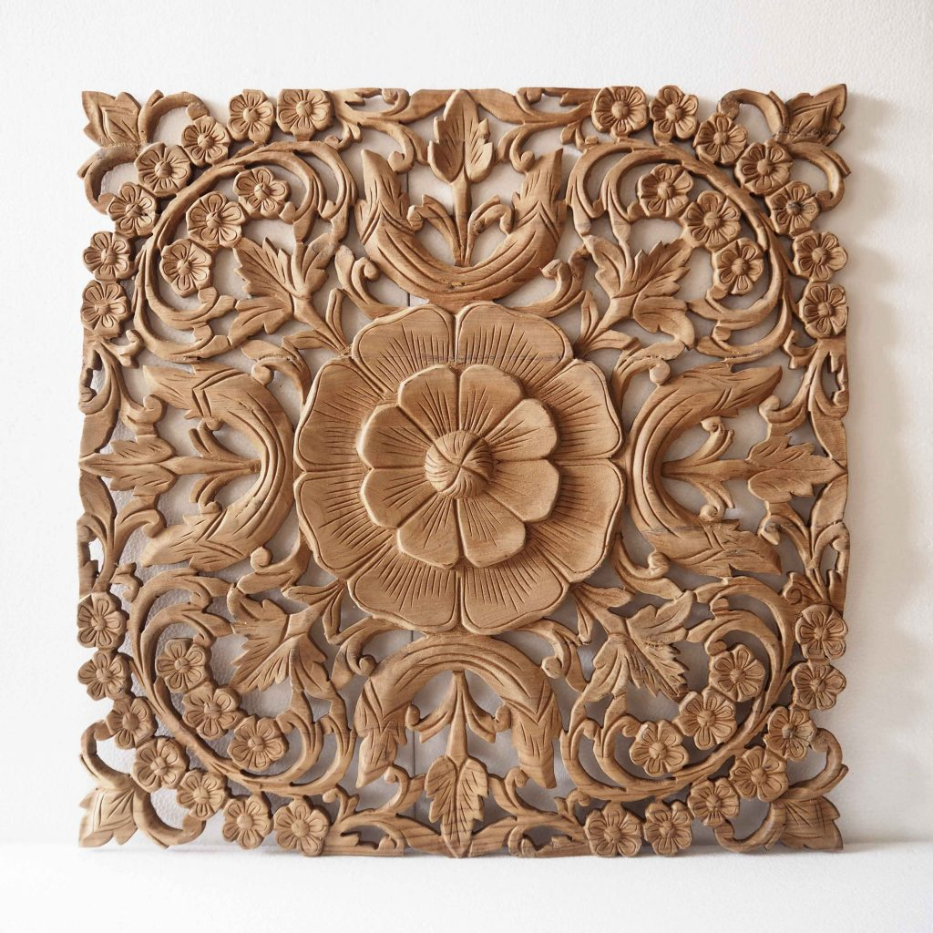 Carved Wood Wall Hanging Buy Natural Wooden Wall Art Panel From Thailand Online
