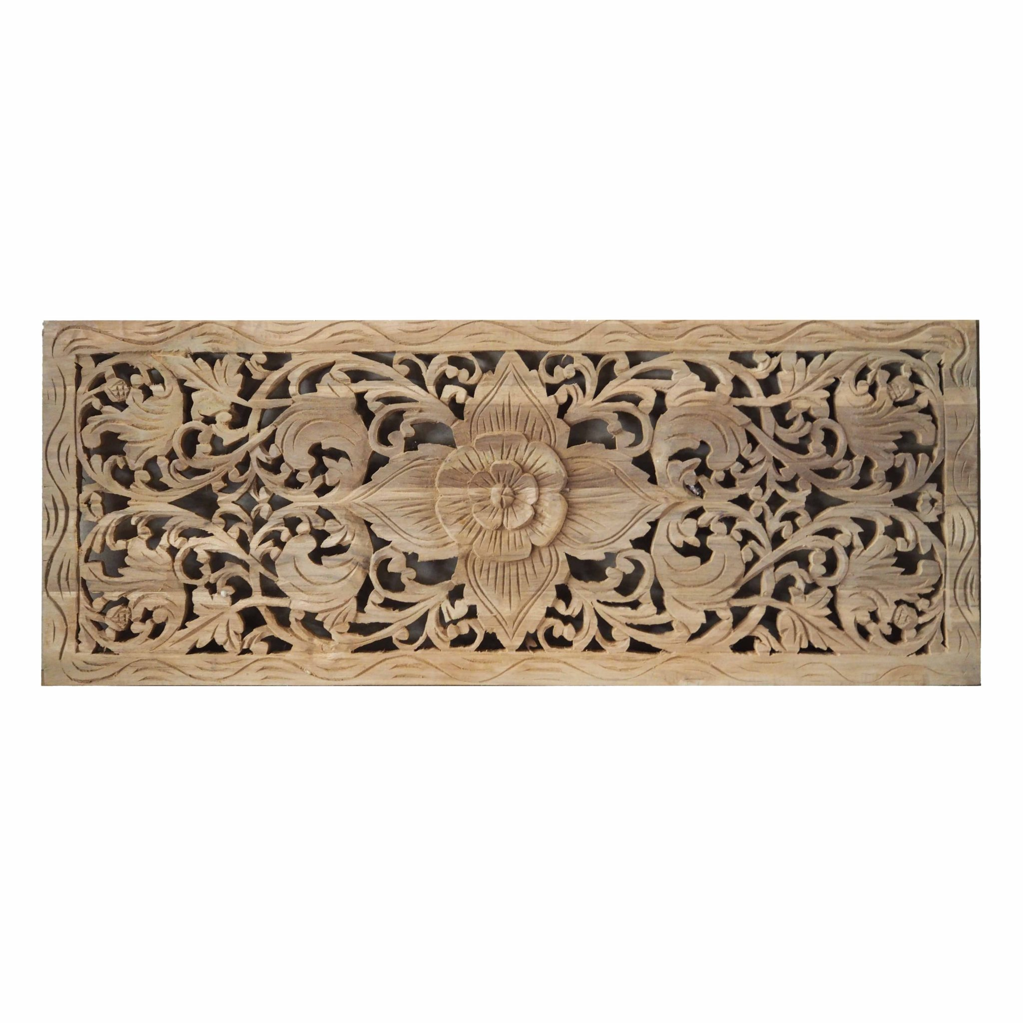 Wood Decorative Wall Art Buy Flower Wood Carving Wall Panel From Thailand Online