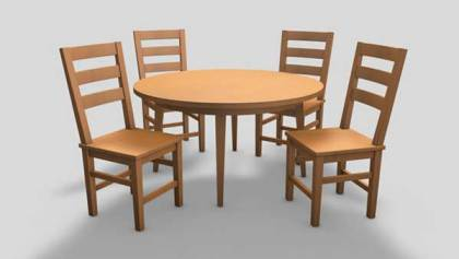 Chairs and Table setting