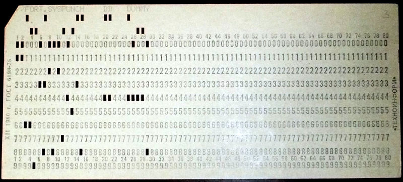 2 x USSR Computer Mainframe Punch Cards Like IBM UNIVAC computers - punch cards