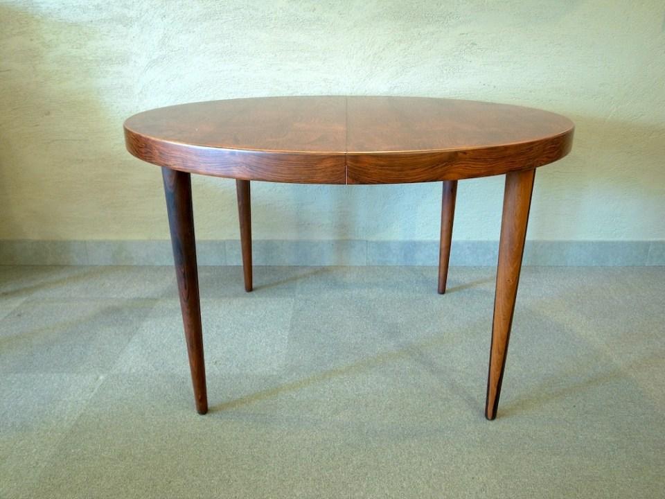カイ・クリスチャンセン 円形ダイニングテーブル エクステンション
