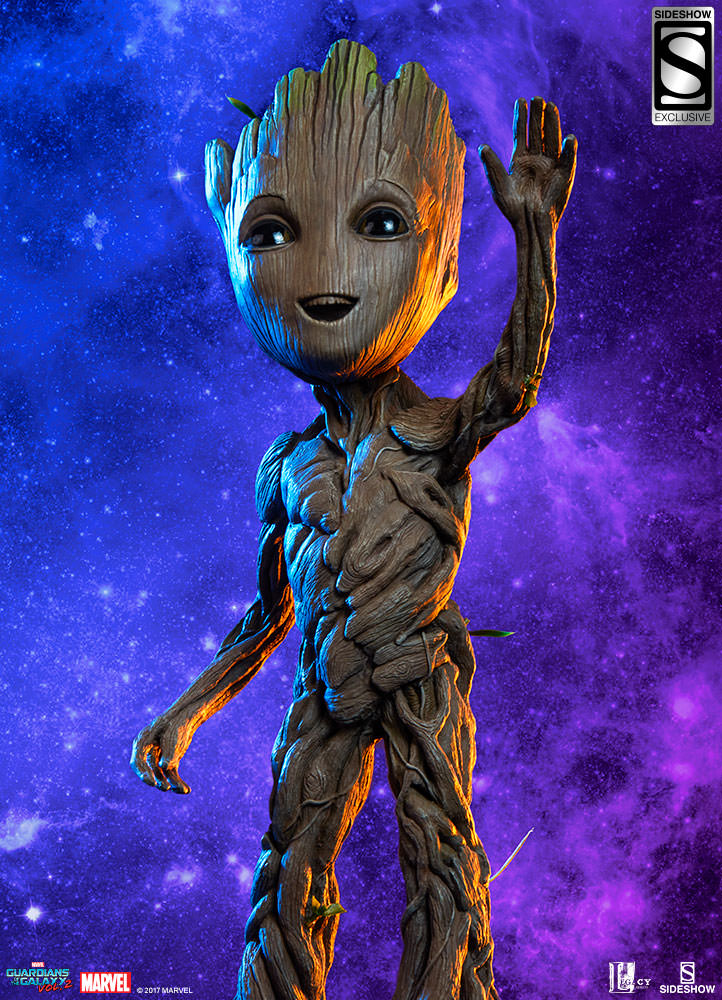 Baby Groot Guardians Of The Galaxy Say Hello To The Baby Groot Maquette From Sideshow And